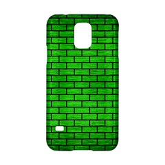 Brick1 Black Marble & Green Brushed Metal (r) Samsung Galaxy S5 Hardshell Case  by trendistuff