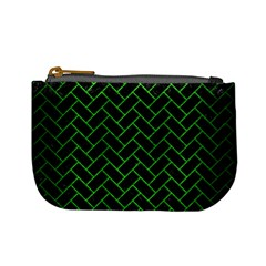 Brick2 Black Marble & Green Brushed Metal Mini Coin Purses by trendistuff