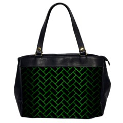 Brick2 Black Marble & Green Brushed Metal Office Handbags by trendistuff