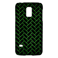 Brick2 Black Marble & Green Brushed Metal Galaxy S5 Mini by trendistuff