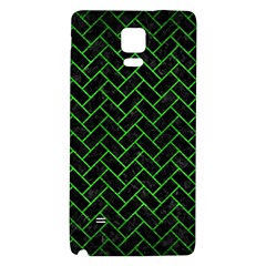 Brick2 Black Marble & Green Brushed Metal Galaxy Note 4 Back Case by trendistuff