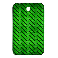 Brick2 Black Marble & Green Brushed Metal (r) Samsung Galaxy Tab 3 (7 ) P3200 Hardshell Case  by trendistuff