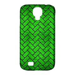Brick2 Black Marble & Green Brushed Metal (r) Samsung Galaxy S4 Classic Hardshell Case (pc+silicone) by trendistuff