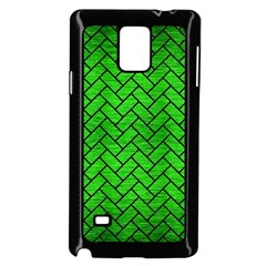Brick2 Black Marble & Green Brushed Metal (r) Samsung Galaxy Note 4 Case (black) by trendistuff