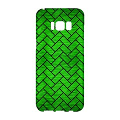 Brick2 Black Marble & Green Brushed Metal (r) Samsung Galaxy S8 Hardshell Case  by trendistuff