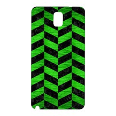 Chevron1 Black Marble & Green Brushed Metal Samsung Galaxy Note 3 N9005 Hardshell Back Case by trendistuff