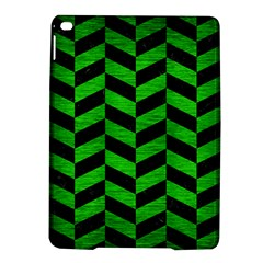 Chevron1 Black Marble & Green Brushed Metal Ipad Air 2 Hardshell Cases by trendistuff