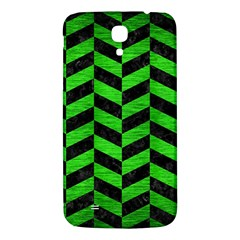 Chevron1 Black Marble & Green Brushed Metal Samsung Galaxy Mega I9200 Hardshell Back Case by trendistuff