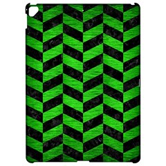 Chevron1 Black Marble & Green Brushed Metal Apple Ipad Pro 12 9   Hardshell Case by trendistuff