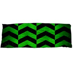 Chevron2 Black Marble & Green Brushed Metal Body Pillow Case Dakimakura (two Sides) by trendistuff