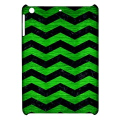 Chevron3 Black Marble & Green Brushed Metal Apple Ipad Mini Hardshell Case by trendistuff