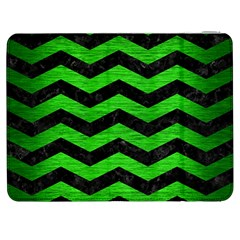 Chevron3 Black Marble & Green Brushed Metal Samsung Galaxy Tab 7  P1000 Flip Case by trendistuff