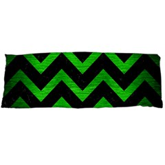 Chevron9 Black Marble & Green Brushed Metal Body Pillow Case Dakimakura (two Sides) by trendistuff