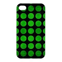 Circles1 Black Marble & Green Brushed Metal Apple Iphone 4/4s Hardshell Case by trendistuff