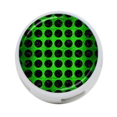 Circles1 Black Marble & Green Brushed Metal (r) 4 Port Usb Hub (two Sides)  by trendistuff