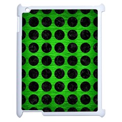 Circles1 Black Marble & Green Brushed Metal (r) Apple Ipad 2 Case (white) by trendistuff