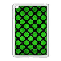 Circles2 Black Marble & Green Brushed Metal Apple Ipad Mini Case (white) by trendistuff