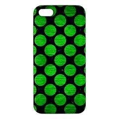 Circles2 Black Marble & Green Brushed Metal Apple Iphone 5 Premium Hardshell Case by trendistuff