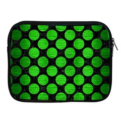 Circles2 Black Marble & Green Brushed Metal Apple Ipad 2/3/4 Zipper Cases by trendistuff