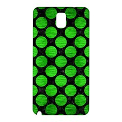 Circles2 Black Marble & Green Brushed Metal Samsung Galaxy Note 3 N9005 Hardshell Back Case by trendistuff