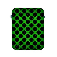 Circles2 Black Marble & Green Brushed Metal (r) Apple Ipad 2/3/4 Protective Soft Cases by trendistuff