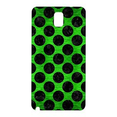 Circles2 Black Marble & Green Brushed Metal (r) Samsung Galaxy Note 3 N9005 Hardshell Back Case
