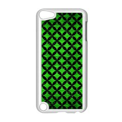 Circles3 Black Marble & Green Brushed Metal (r) Apple Ipod Touch 5 Case (white) by trendistuff