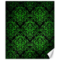 Damask1 Black Marble & Green Brushed Metal Canvas 20  X 24   by trendistuff