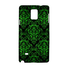 Damask1 Black Marble & Green Brushed Metal Samsung Galaxy Note 4 Hardshell Case by trendistuff