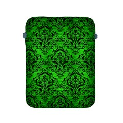 Damask1 Black Marble & Green Brushed Metal (r) Apple Ipad 2/3/4 Protective Soft Cases by trendistuff