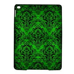 Damask1 Black Marble & Green Brushed Metal (r) Ipad Air 2 Hardshell Cases by trendistuff