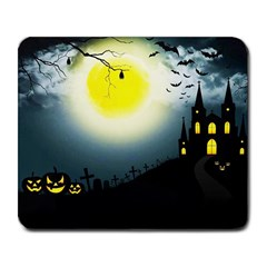 Halloween Landscape Large Mousepads by Valentinaart