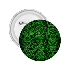 Damask2 Black Marble & Green Brushed Metal 2 25  Buttons by trendistuff