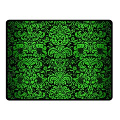 Damask2 Black Marble & Green Brushed Metal Fleece Blanket (small) by trendistuff