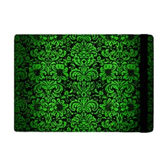 Damask2 Black Marble & Green Brushed Metal Ipad Mini 2 Flip Cases by trendistuff