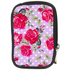 Shabby Chic,pink,roses,polka Dots Compact Camera Cases by 8fugoso