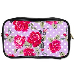 Shabby Chic,pink,roses,polka Dots Toiletries Bags 2 Side by 8fugoso