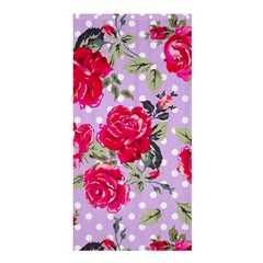 Shabby Chic,pink,roses,polka Dots Shower Curtain 36  X 72  (stall)  by 8fugoso