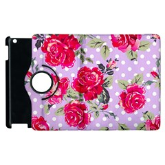 Shabby Chic,pink,roses,polka Dots Apple Ipad 2 Flip 360 Case by 8fugoso