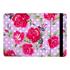 Shabby Chic,pink,roses,polka Dots Samsung Galaxy Tab Pro 10 1  Flip Case by 8fugoso