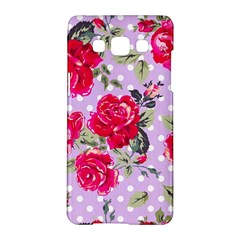 Shabby Chic,pink,roses,polka Dots Samsung Galaxy A5 Hardshell Case  by 8fugoso