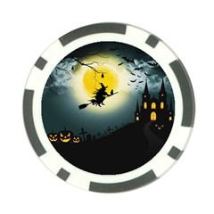 Halloween Landscape Poker Chip Card Guard (10 Pack) by Valentinaart