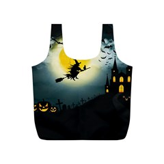 Halloween Landscape Full Print Recycle Bags (s)  by Valentinaart