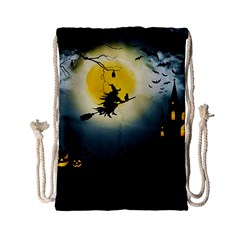Halloween Landscape Drawstring Bag (small) by Valentinaart