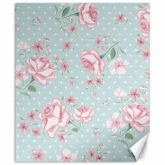 Shabby Chic,pink,roses,polka Dots Canvas 20  X 24   by 8fugoso