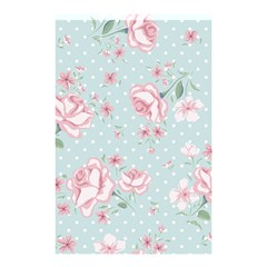 Shabby Chic,pink,roses,polka Dots Shower Curtain 48  X 72  (small)  by 8fugoso