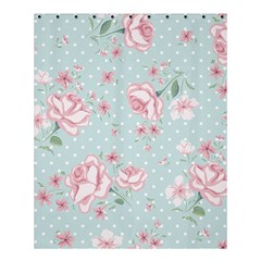 Shabby Chic,pink,roses,polka Dots Shower Curtain 60  X 72  (medium)  by 8fugoso
