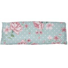 Shabby Chic,pink,roses,polka Dots Body Pillow Case (dakimakura) by 8fugoso