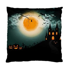Halloween Landscape Standard Cushion Case (two Sides) by Valentinaart