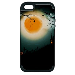 Halloween Landscape Apple Iphone 5 Hardshell Case (pc+silicone) by Valentinaart